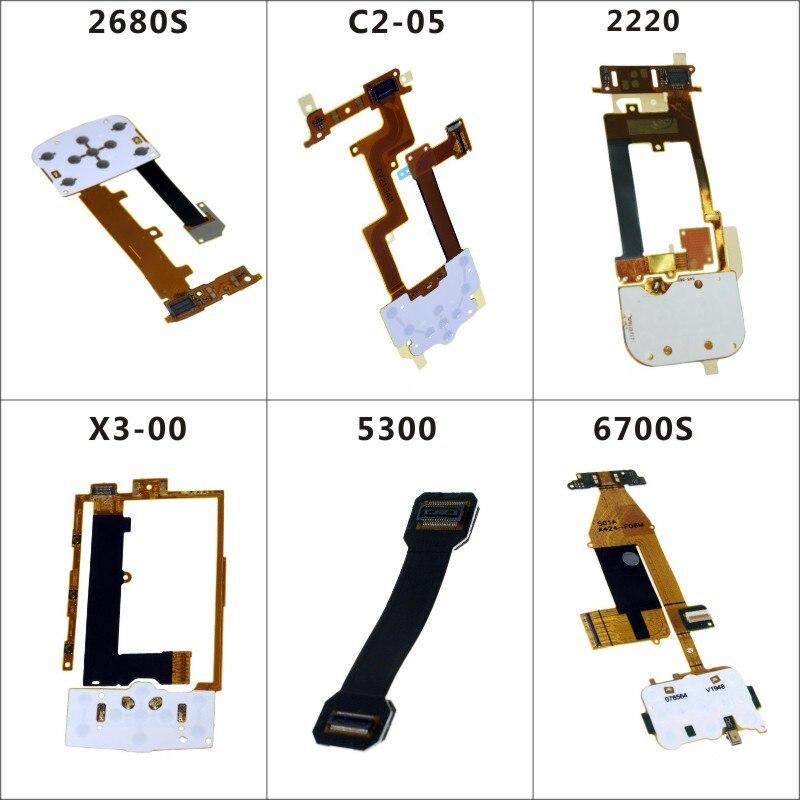 Téléphone Mobile Flex Câbles Remplacement Clavier Clavier Joystick Membrane Câble Flex Pour Nokia C2-05 X3-00 6700 s 2220 5300 2680 s