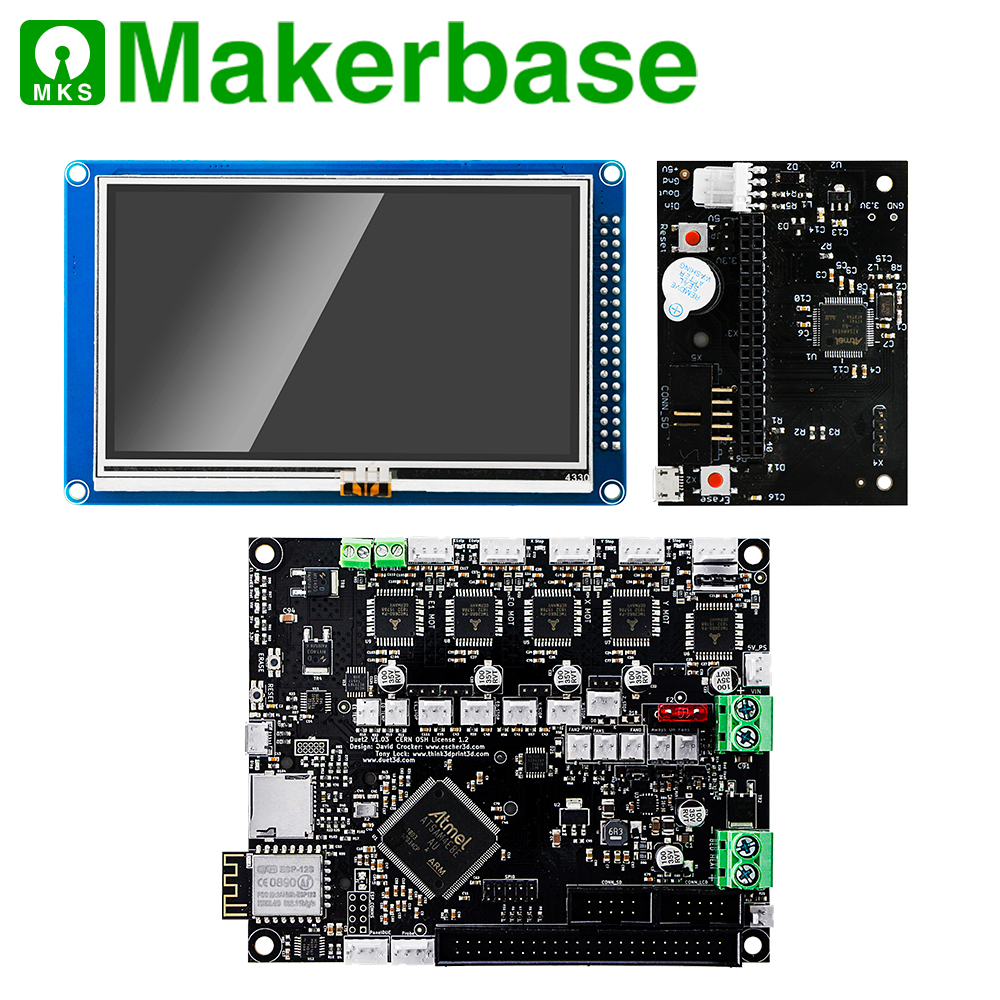 "Duet 2 Wifi Motherboard Cloned Duet2 Wifi Reprap Firmware And Powerful 32 Bit Board + 4.3"" Panel Due Touch Screen Controller"