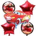 5 pçs/lote carro Dos Desenhos Animados Balões Folha estrela Balão De Hélio Inflável crianças brinquedos clássicos balões feliz Aniversário Fontes Do Partido