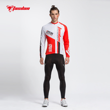 Tasdan Professional Bike Jersey Set Long Sleeve Top Shirt Men Sport Suit Set Padded Pants for Racing