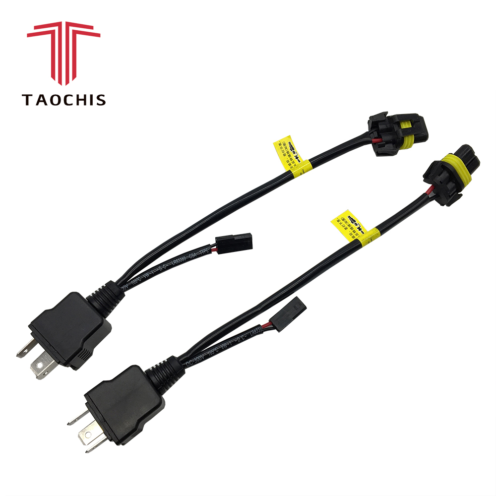 hight resolution of aliexpress com buy taochis bi xenon 35w 55w h4 12v 2pcs cable wire harness for h4 9003 hi lo bi xenon hid bulbs wiring controllers play and plug from