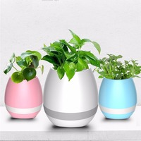 Creative Smart Music Flower Pots Bluetooth Speaker Play The Piano Decoration Planter Night Light Touch Sensors