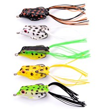 5pcs Fishing Lure Mixed 5 Models Fishing Tackle 5 Color 5.8g/4.2cm Frog Lure Bass Fishing Hooks Bait Tackle Topwater