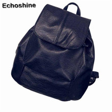 2016 New Fresh and lively fashion backpack Girls Soft Leather School Bag women Travel Backpack Satchel Women Shoulder Rucksack