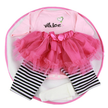 Tailored Design Baby Doll Clothes Fit For 22-23 Inch Reborn Babies Girl Dress Six-Piece Suits Doll Accessories Kids DIY Game Toy