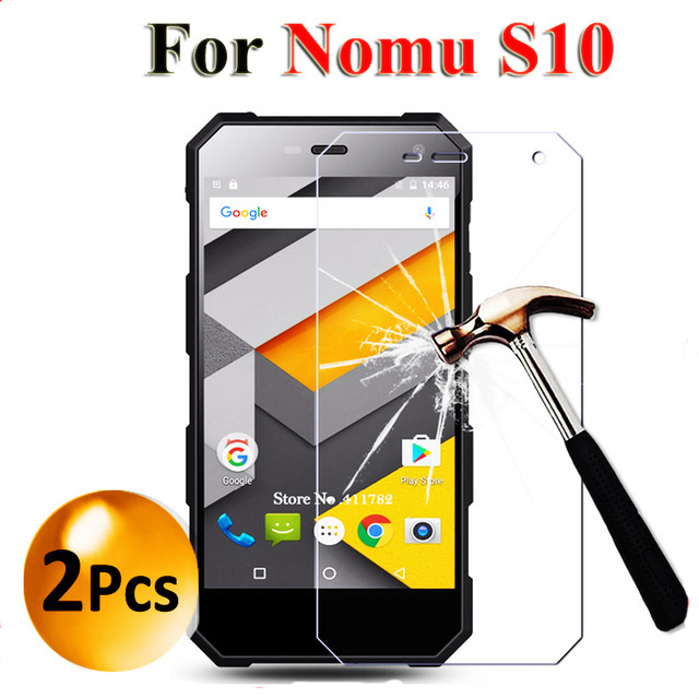 For NOMU S10 Premium Tempered Glass Screen Protector For NOMU S10 Anti-Explosion Protective Film Cover On NOMU S 10 2PCS