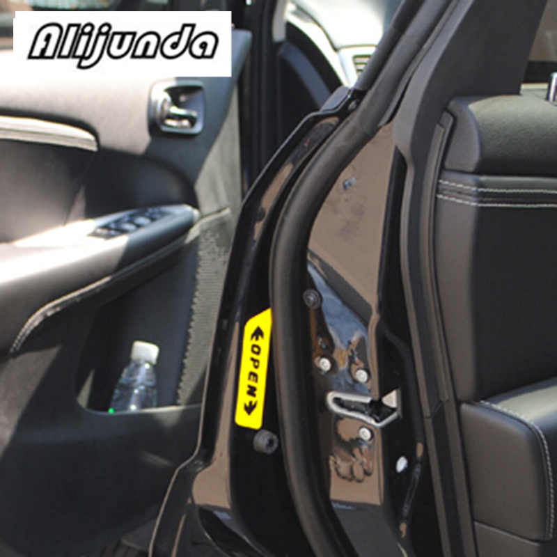 Auto Deur Open Waarschuwing Stickers voor Mercedes-Benz Serie-ABCES G M ML GLK CL CLK CLS GL GLK R SL SLK SLS AMG TPMS