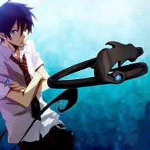 Cartoon Anime Ao nie egzorcysta niebieski egzorcysta Okumura Rin Demon ogon 925 srebrny pierścień nowy S925 pierścienie Manga Cos rekwizyty prezent
