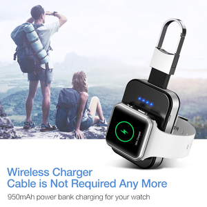 Image 5 - RAXFLY Wireless Charger For Apple Watch 4 3 2 1 Fast Charger Qi Wireless Charging For i Watch Portable 950mAh Power Bank Charge