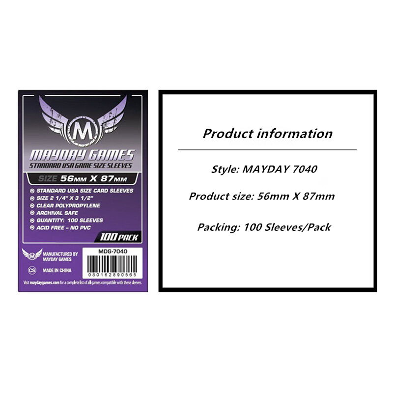 Protector Game-Sleeve Mayday-Card Clear