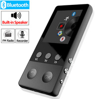 Metal Bluetooth MP4 Player 8GB 1.8 Inch Screen Built in Speakers with FM Radio E book Audio Video Player Portable Walkman
