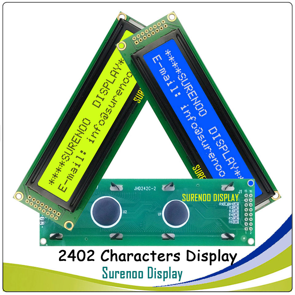 242 24X2 2402 Character LCD Module Display Screen LCM Blue Yellow Green with Backlight242 24X2 2402 Character LCD Module Display Screen LCM Blue Yellow Green with Backlight
