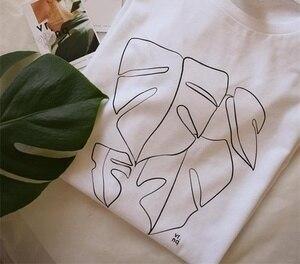 Starqueen-JBH Monstera футболка унисекс ручной работы с шелковым принтом