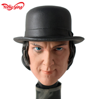 1/6 Scale Clock Orange Kubrick Head Sculpt Carve Model Toys With Hat For 12Man Tbleague Hottoy Action Figure gifts Collections