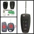 3 Botones Sin Cortar Dominante Alejado Fob W/VIRUTA 4D63 433 mhz para Ford/Focus/C-MAX/S-Max/Mondeo/Fiesta