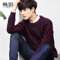 Men's knitwear fall clothing sets the new leisure round neck sweaters