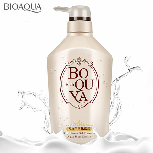BIOAQUA Deep Cleaning Body Exfoliator Shower Gels Essential Oil Fragrance Shower Gel Moist Smooth Whitening Moisturizing 550ml