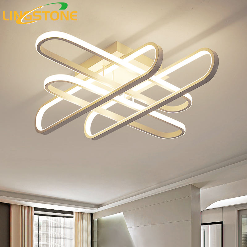 Modern Led Ceiling Lights with Remote Control Surface Mounted Ceiling Lamp for Living Room Kitchen Bedroom Indoor Light Fixtures