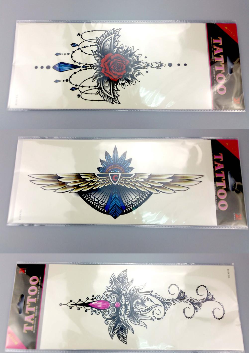 tessie shop body art painting tattoo stickers glitter Metal gold silver temporary flash tattoo Disposable indians tattoos tatoo 3