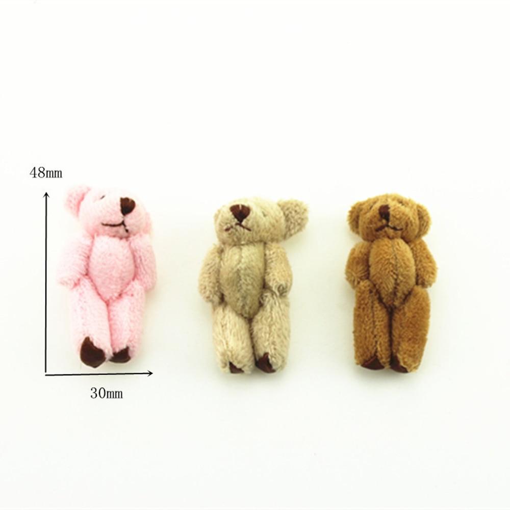 1Pcs 1/12 Dollhouse Miniature Accessories Mini Plush Bear Simulation Miniature Animal Toy Furniture For Doll Home Decoration