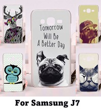 DIY Printing Hard Plastic and Soft TPU Phone Covers For Samsung Galaxy J7 2015 J700 Cases Fashionable Pictures Cell Phone Cover