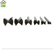 5pc 15-35mm Forstner Drill Bit Set Woodworking Window Hole Saw Set Power Rotary Tool Accessories
