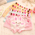 6pcs/lot Cute Rabbit underwear baby Girls Sweet Cotton boxer Underwear children briefs Kids cute panties #157msnb