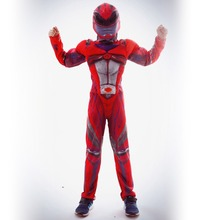 Anime movie super team costume red warrior children Fantasy Comic Movie Carnival Party Purim Halloween