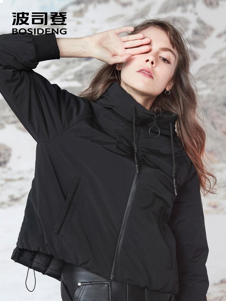 BOSIDENG 2018 Winter Collection Women Duck Down Jacket Normcore Minimalist Thin Duck Down Outwear Hooded Windbreaker B80131104