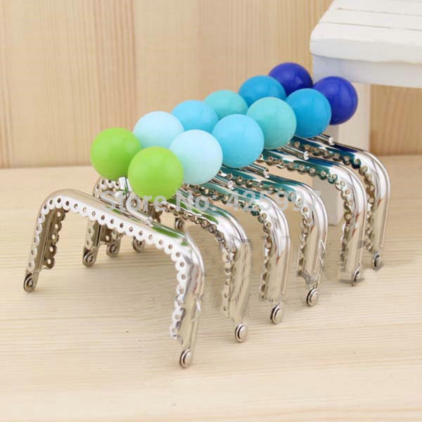 The Cheapest Price 10pcs Wholesale 15 Cm Pearl Candy Bead Metal Purse Frame Handle Silver Tone Glossy Long Feet Purse Frame Diy Bag Accessory Bag Parts & Accessories
