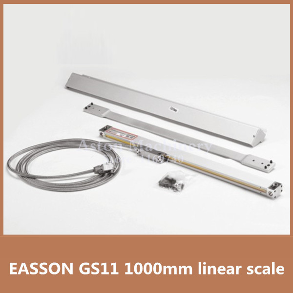 Free shipping High Precision EASSON GS11 linear encoder 1000mm linear scale 1u for milling machine CNC linear encoder scale free shipping high precision easson gs11 linear wire encoder 850mm 1micron optical linear scale for milling machine cnc