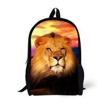 Lion Printing Backpack Children School Bags For Teenager Boys Girls 17 Inch Backpacks Laptop Backpack Mochila Bag star universe printing backpack bag children school bags for teenager boys girls backpacks laptop backpack