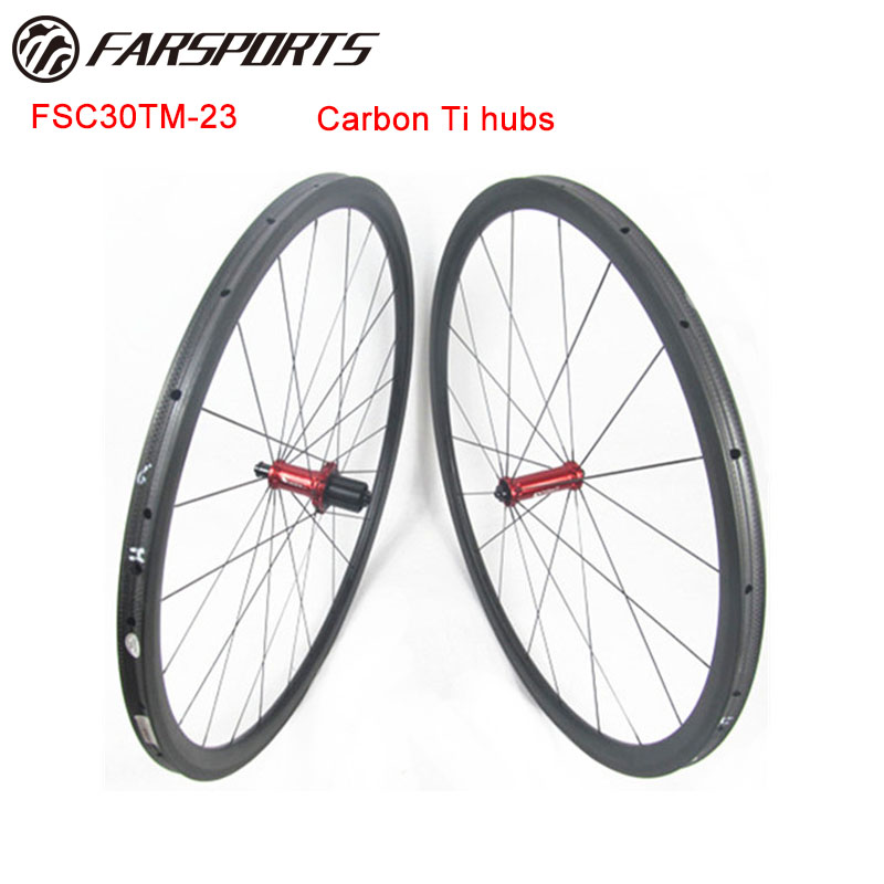1078g 700C full carbon fiber Far Sports road tubular wheelsets 30mm for sprinting 20H 24H cyclocross disc available