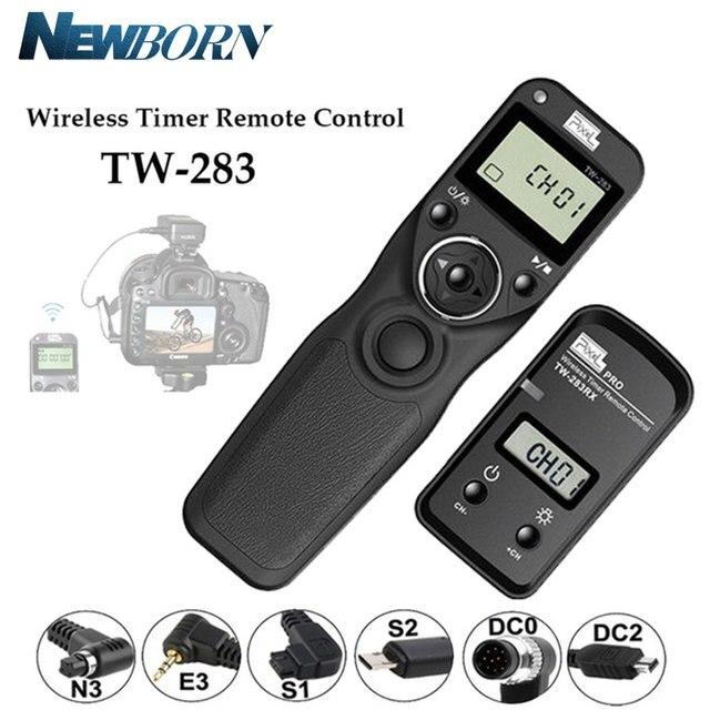 بكسل TW 283 الموقت اللاسلكية التحكم عن بعد مصراع الإصدار (DC0 DC2 N3 E3 S1 S2) كابل لكانون نيكون سوني كاميرا TW283