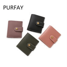 Mini Wallet Women Fashion Purse Female Short Wallets Students Lovely Small for soft Leather card