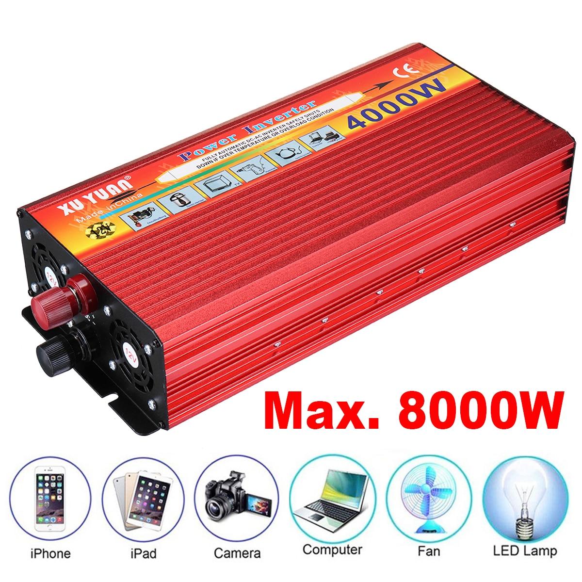 4000 Вт Портативный автомобильный инвертор Aotomatic Мощность выключатель автоматический Зарядное устройство комплект адаптер DC 12 В To110V 240 В AC На...