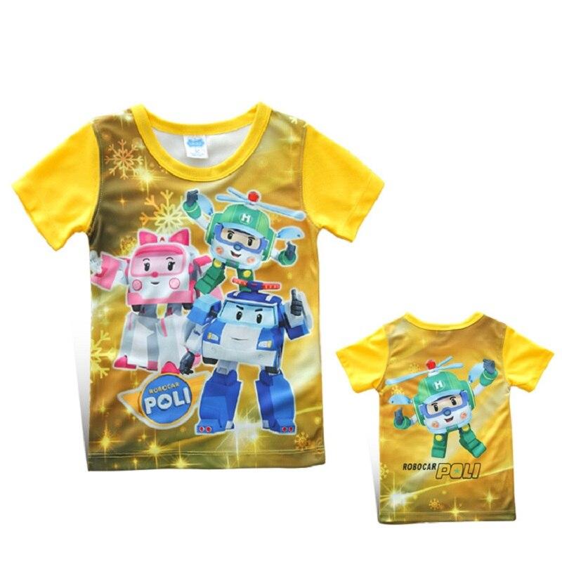 New POLI ROBOCAR children kids boys girls t shirt baby kids boys girls shirts for summer kids baby tees wear Clothing