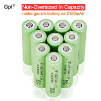 GPI rechargeable battery aa 2100mAh high quality cell low self discharge 1.2V NI MH AA for Toys Camera Microphone remote control