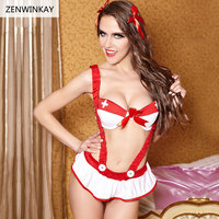 Female Porn Lingerie Sexy Cosplay Women Sexy Nurse Costume Sex Costume Role Play Erotic Dress with Dress Thong Headwear