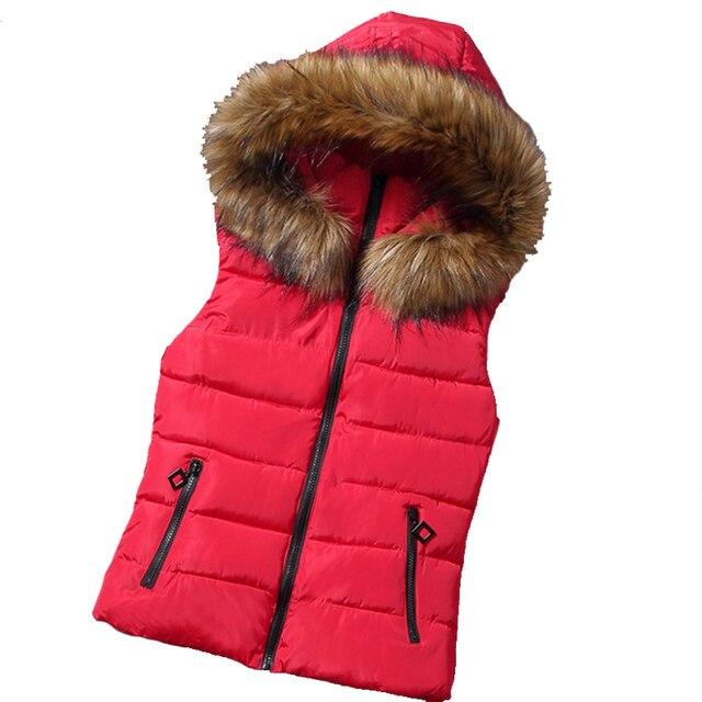 Осень зима корейские модели меховой воротник жилет дикого хлопка жилет с капюшоном жилет жилет оптовая продажа женщин
