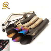 Refit Full Exhaust Pipe Systems for GP HP R6 Muffler 51MM DB Killer Akrapovic Exhaust Motorcycle GY6 Scooter 125cc Escape Moto