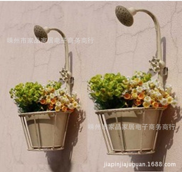 Garden Decor French Country To Do The Old Wrought Iron Flower Pots Faucet Wall Mural Gardening