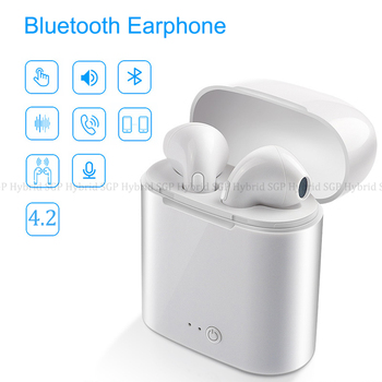 i7 TWS Wireless Bluetooth Earphone Stereo Earbuds Headset With Mic Charging Box For iphone samsung Xiaomi For All Smart phone