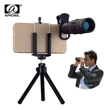 APEXEL 18X Telescope Zoom lens Monocular Mobile Phone camera Lens for iPhone Samsung Smartphones for Camping hunting Sports(China)