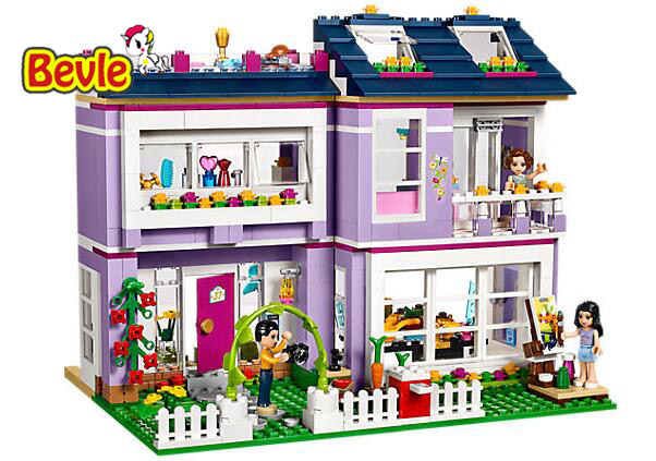 Bela 10541 731Pcs Friends Emma's House mom Charlotte and dad Luis Building Blocks Bricks Toy Compatible With Friends 41095 цена и фото