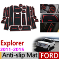 Противоскользящий коврик для ворот резиновый подстаканник для Ford Explorer 2011 2012 2013 2014 2015 MK5 U502 пред-лицевая сторона аксессуары автомобильные на...