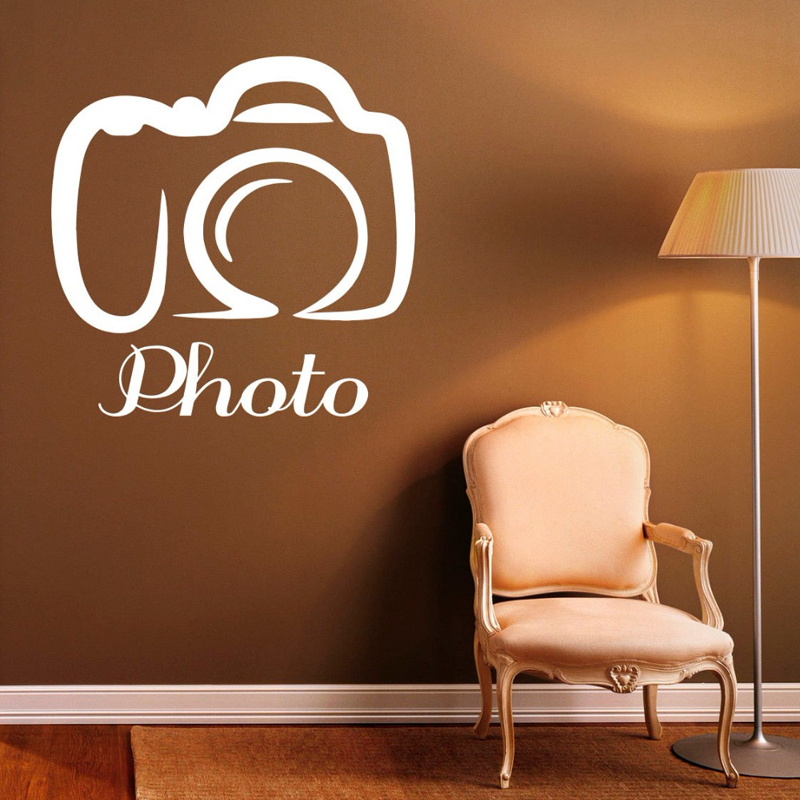 hot camera pattern wall stickers vinyl photo quotes wall decal
