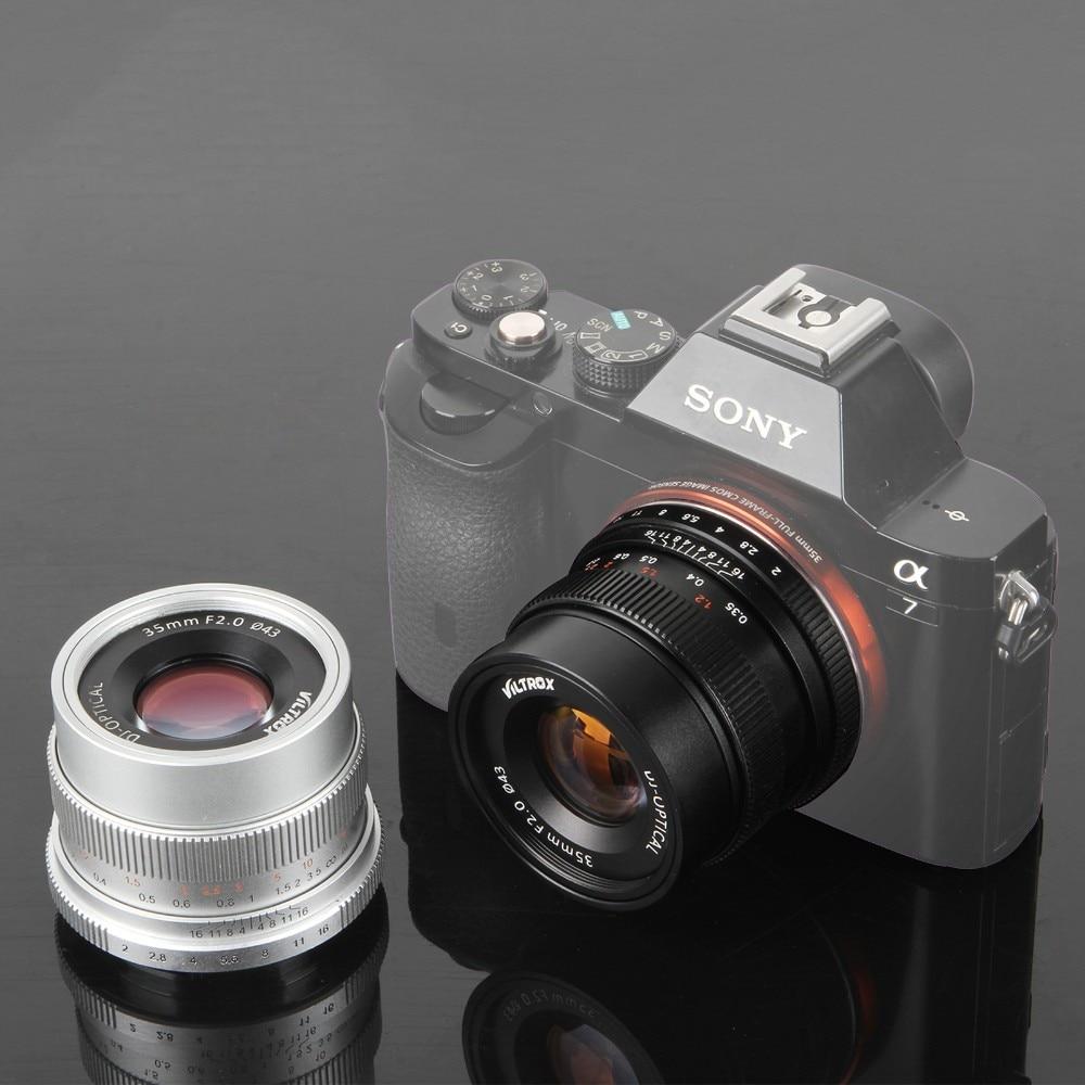 Viltrox 35mm F2 gran angular gran apertura fija lente para Sony NEX e completo Marcos Cámara A9 a7sii a7rii a7r a6300 a6500 nex-7