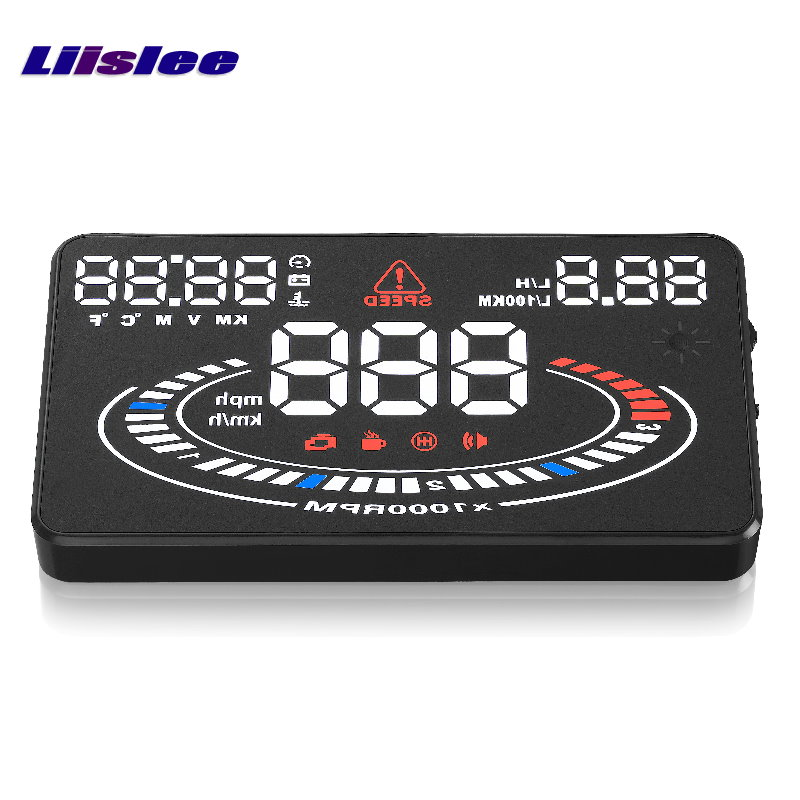 Liislee Car HUD Head Up Display For Volkswagen Passat B6 B7 CC / Magotan  Refkecting Windshield ScreenDriving Screen Projector x5 obd2 hud heads up display automotive trip computer speed projector speed temperature fuel consumption hud head up display