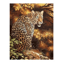 Jaguar animal Moge Diamond Painting Full Round New DIY Toy Sticking Drill Cross Embroidery 5D Jungle big cats Home Decoration